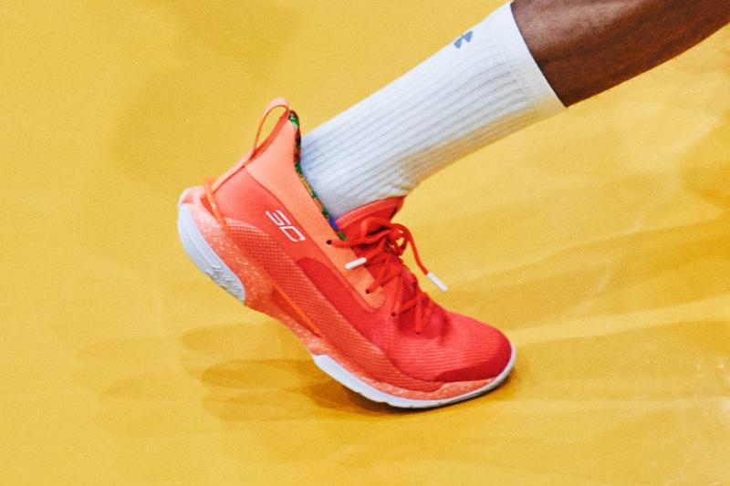 steph stephen curry 7 ua under armour sour patch kids green red orange release date info photos price peach candy
