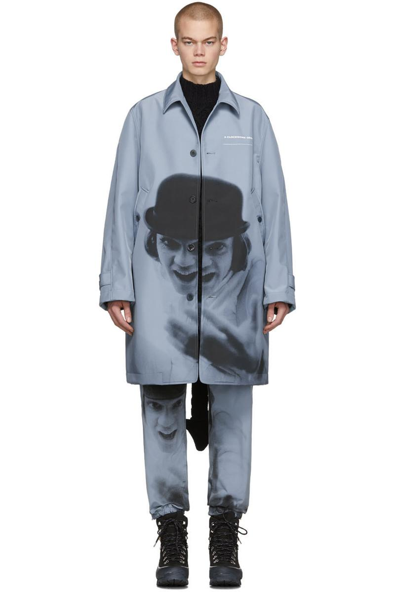 undercover a clockwork orange blue alex print coat lounge pants poplin graphic print