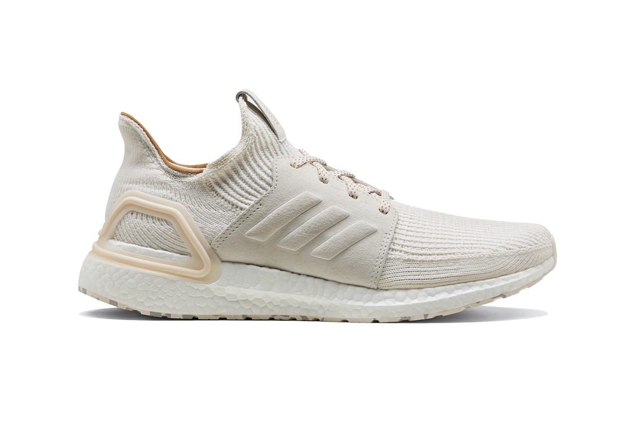 adidas ultraboost 2019 universal works prairie sand cumin winter white Eg5185 Eg5188 bone glacier grey release date info photos price collaboration sneakers running