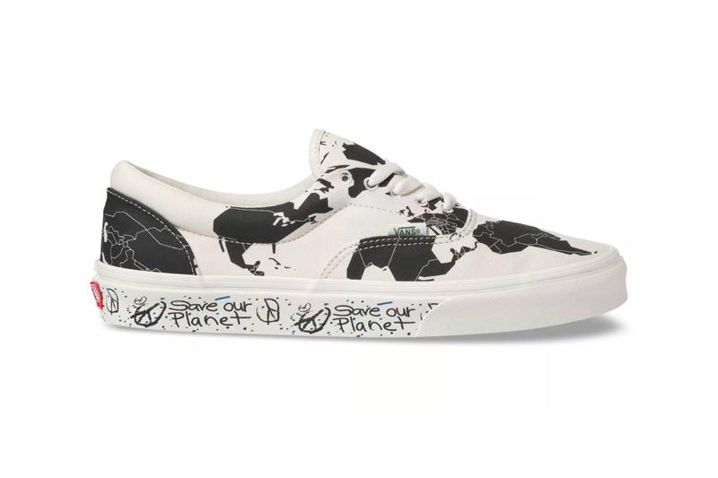 """Vans """"Save Our Planet"""" Collection Release  world map Sustainable Coastlines Hawaii shoes sneakers hats accessories"""