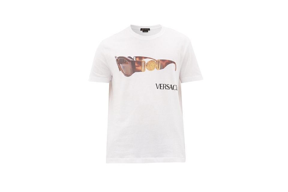 Gianni Versace's Iconic 1990s Medusa Head Sunglasses Adorn Versace's Latest T-Shirt