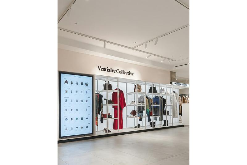Vestiaire Collective Pop-Up at Selfridges London Look Inside Semi-Permanent French Luxury Fashion Reselling Platform Physical Space Boutique High End Womenswear Designer Goods