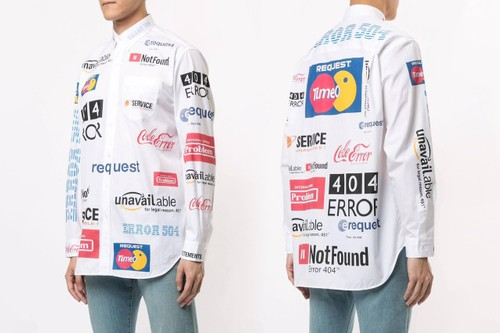 "Vetements Drops Multicolored Shirt With ""Error Message"" Logos"
