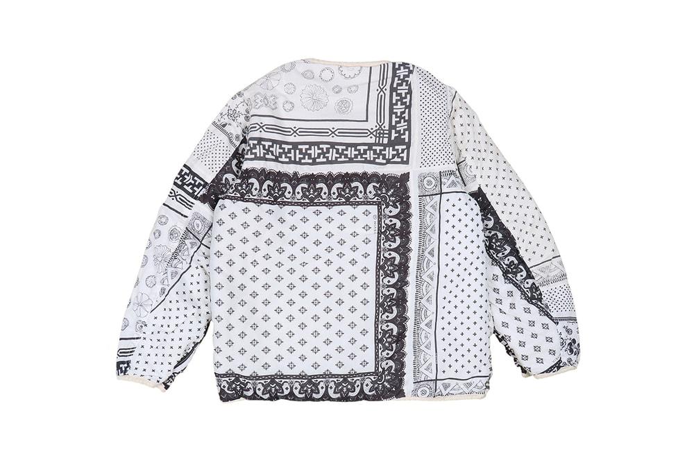 visvim Iris Liner Jacket reversible original bandana patchwork native american swiss riri zipper hiroki nakamura japanese fall winter 2019 collection outerwear down insulated lining