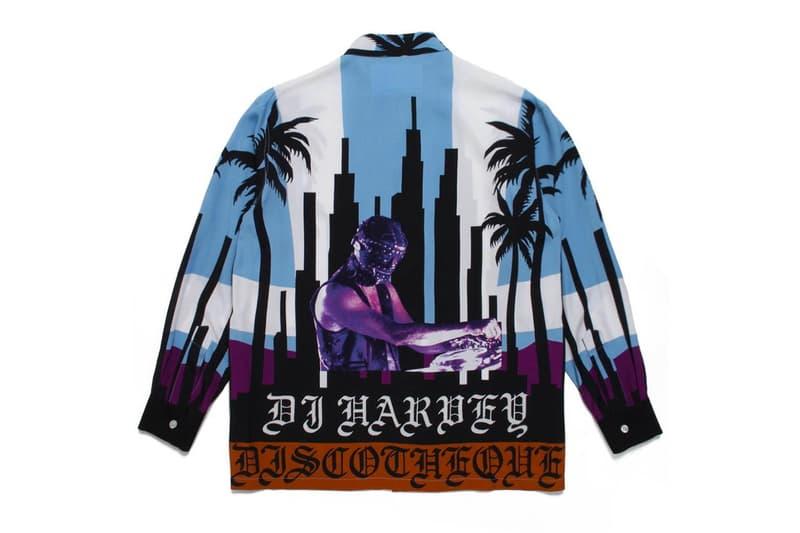 DJ Harvey WACKO MARIA DJ Legend 2019 Capsule Collection music tour japan paradise tokyo hankyu menswear isetan shinjuku 30th anniversary mirror ball logo track pants double leather