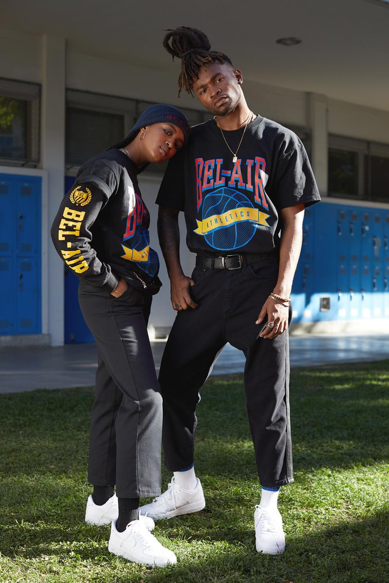 will smith bel air athletics apparel collection fresh prince fashion brand second drop westbrook inc holding company mp varsity jacket belair skipper jacket basketball football graphic t shirts tie dye