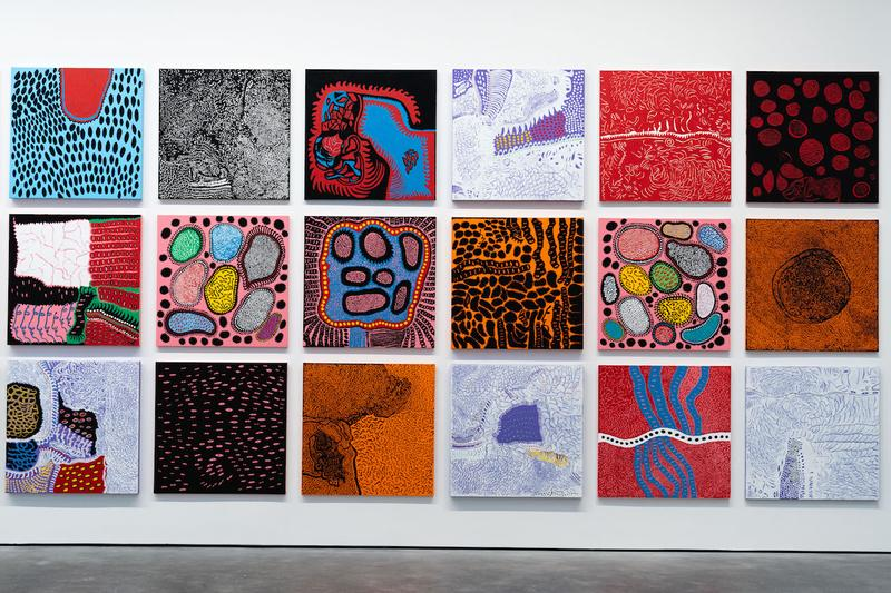 "Yayoi Kusama ""EVERY DAY I PRAY FOR LOVE"" Exhibit Infinity Mirrors Sculptures Paintings Ladder David Zwirner New York"