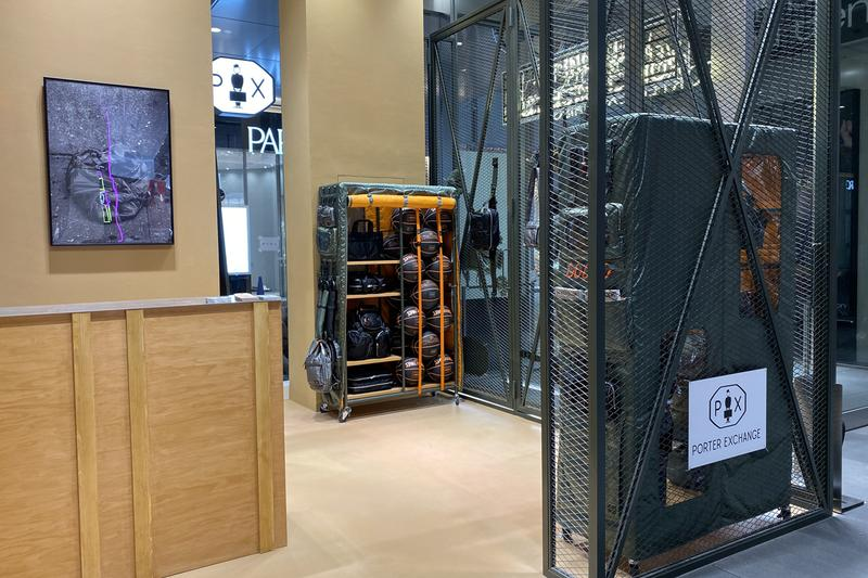 PORTER EXCHANGE Store Opening new shibuya PARCO yoshida and co head porter tanker bags accessories retail spaces brick and mortar made in japan stores Winning Boxing gloves