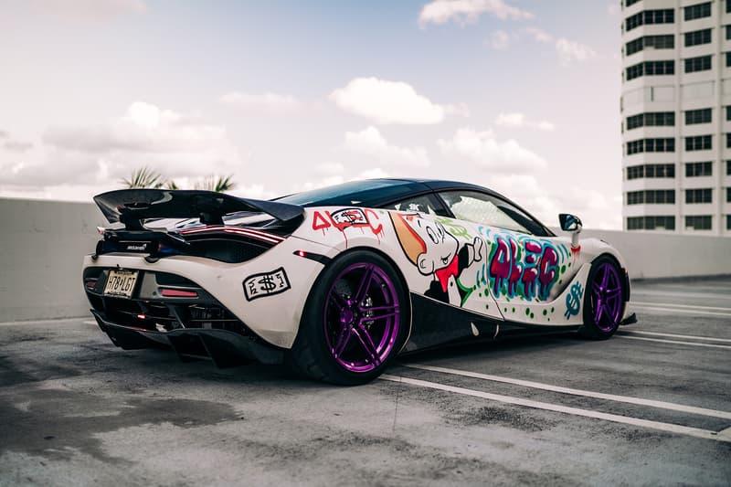 Alec Monopoly x 1016 Industries McLaren 720s Info  art basel Miami cars supercars hypercars speed luxury graffiti artwork streetart
