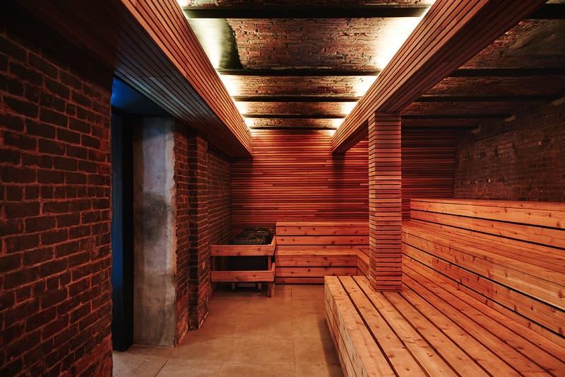 1930s Soda Factory Williamsburg Brooklyn transformation modern bathhouse sauna spa steam room architecture interior design communal bath culture