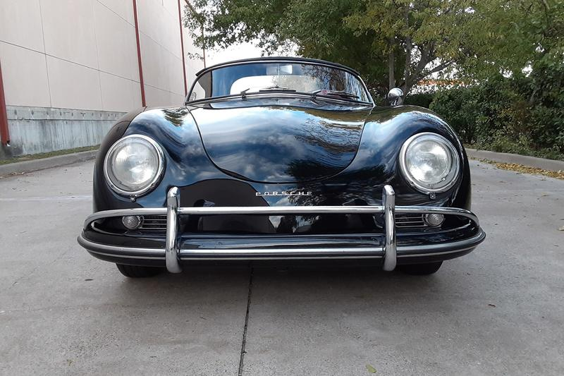 1958 Porsche 356A 1600 Speedster 527k Miles Auction For Sale Vintage Rare German Sportscar Automotive Bring a Trailer Classic Cars Black Red Leather Interior