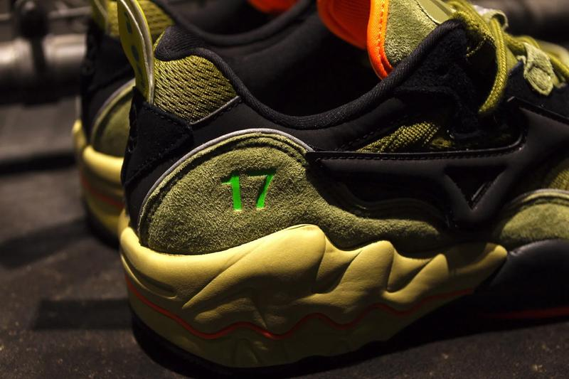 24karats mita mizuno wave rider 1 olive green orange yellow collab collaboration release date info photos price