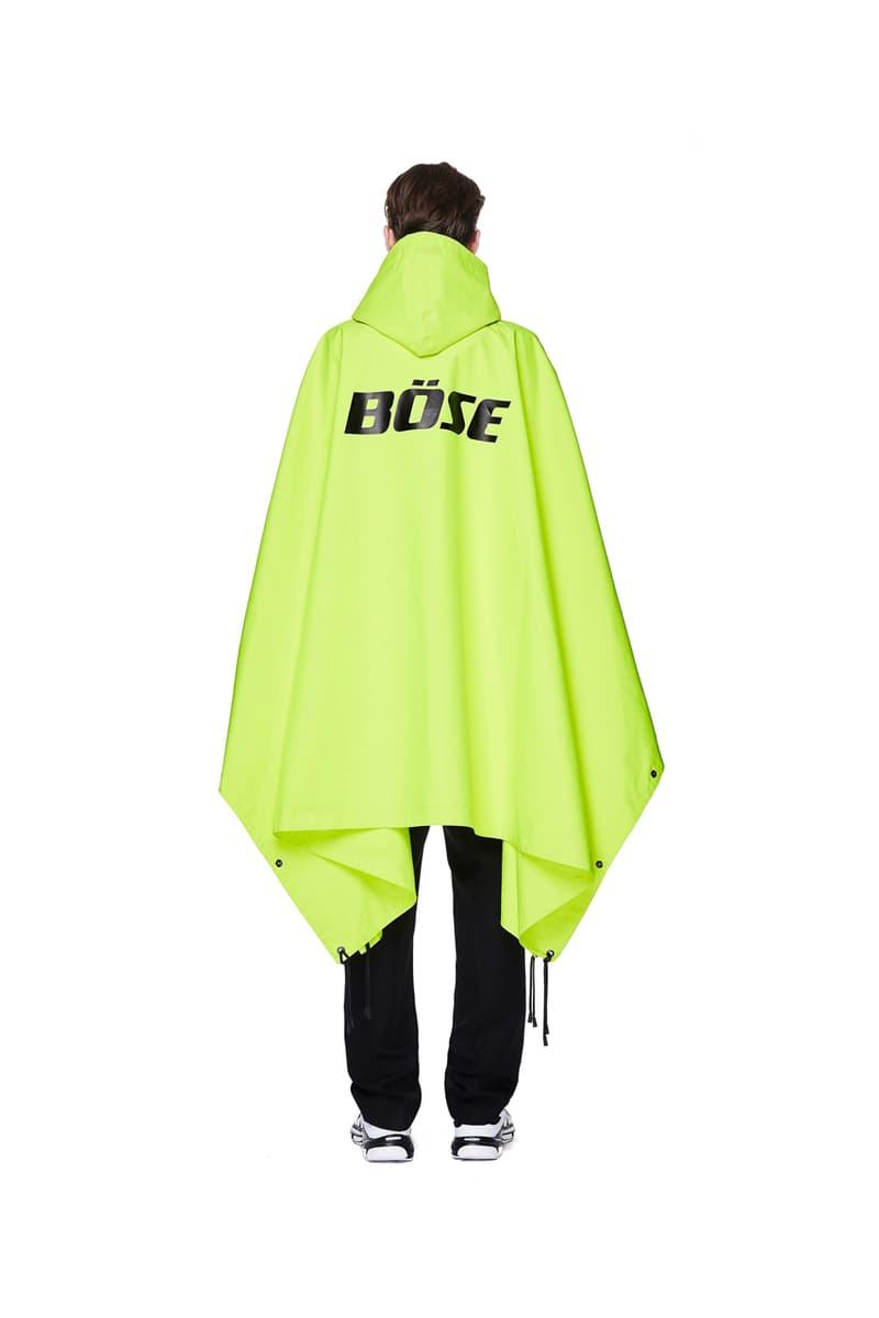 vetements bose raincoat neon yellow colorway release spring summer 2020 menswear
