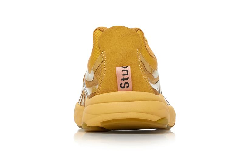 Acne Studios Buzz Mesh Low Top Sneakers shoes kicks runners running trainers footwear sweden contemporary fall winter 2019 holiday gold yellow multi fluorescent 765671 technical