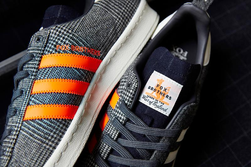 size fox brothers adidas originals campus 80 buy cop purchase release information details news flannel check West of England Grey Old English Blue Chalkstripe textile textures
