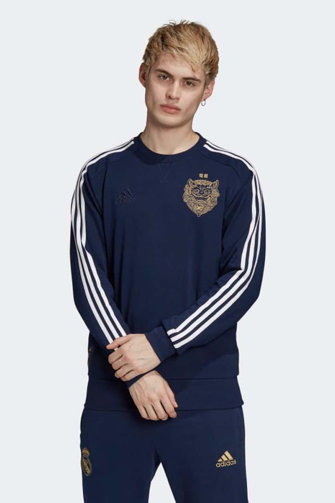 adidas' Real Madrid Chinese New Year Football Kits soccer football 2019 20 crewneck la liga gareth bale Karim Benzema