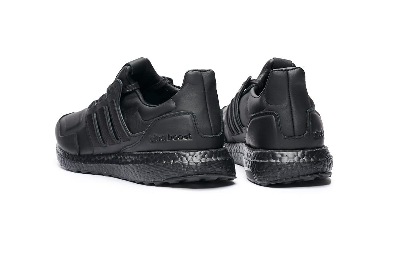 adidas shoes leather black