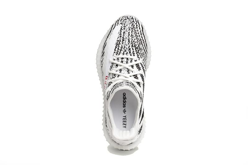 adidas yeezy boost 350 v2 zebra black white red kanye west december 2019 release date info photos price