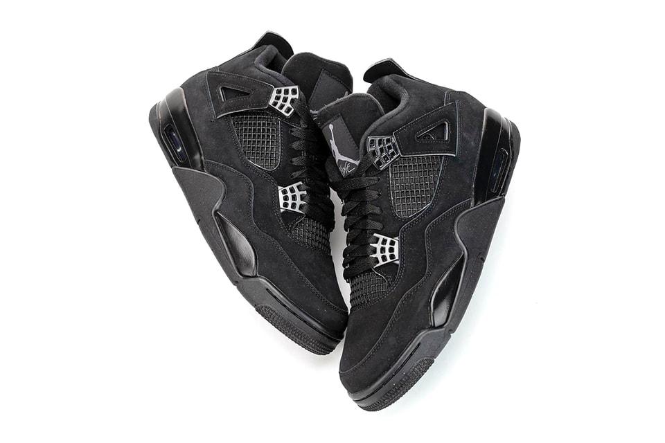 """An Early Look At The Air Jordan 4 """"Black Cat"""" 2020 Retro"""