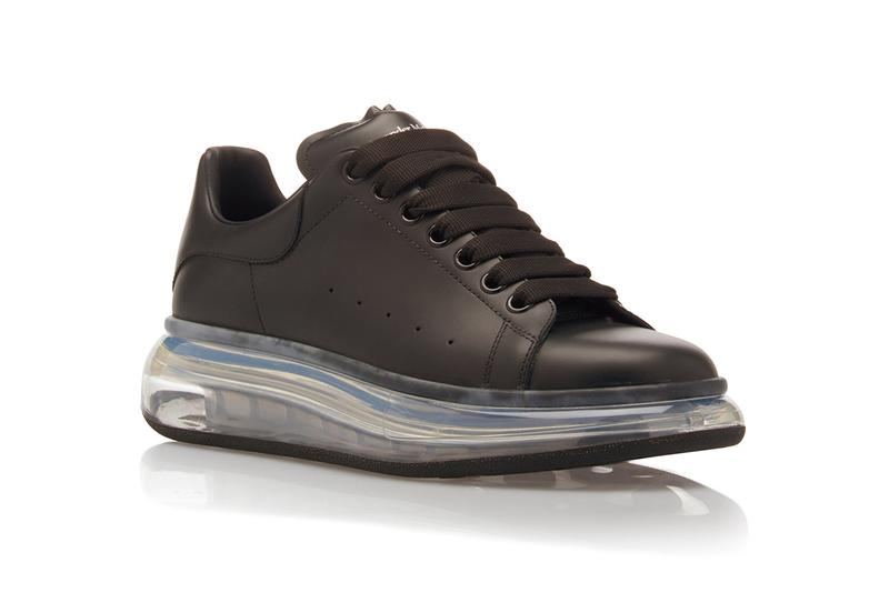 Alexander McQueen Drops Leather Low-Top Sneakers Transparent Sole clear bounce modern detail trend