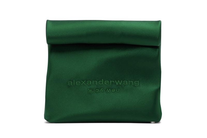 Alexander Wang Crafts Coloful Lunch Box-Inspired Bags lunch bag release info pink satin green brown accessories new york ssense