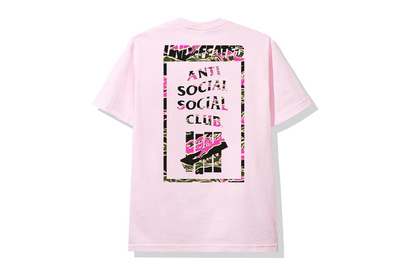 UNDEFEATED x Anti Social Social Club Collection Hoodies T-shirts Socks Protein Shaker Bottles Beanies Green Black Pink White Blue Red