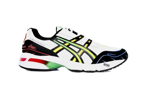 ASICS Details White GEL-1090 With Bright Fluorescent Accents