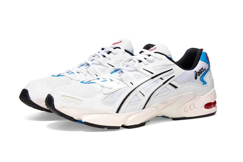 asics gel kayano 5 og white blue red colorway 1021A280-100