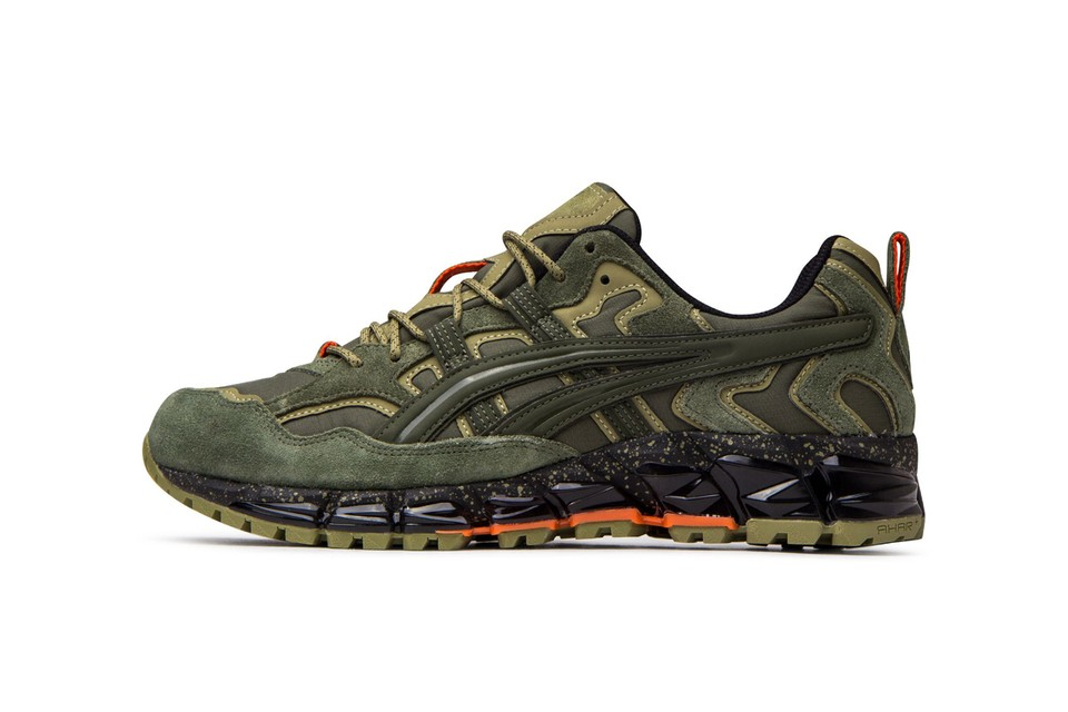 """ASICS GEL-Nandi 360 """"Olive Canvas"""" Combines Ripstop and Suede"""
