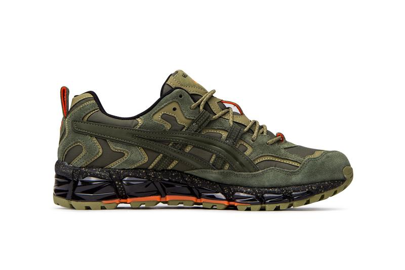asics gel nandi 360 olive canvas green blaze orange 1021A190 300 release date info photos price colorway