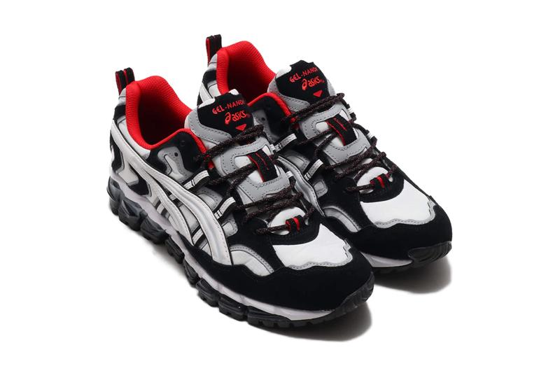 ASICS GEL Nandi 360 White Black red highlights shoes sneakers footwear trainers runners kicks gel technology trail running off road cushioning hybrid quantum vis tech monochromatic
