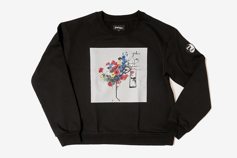 Azuma Makoto PEACE AND AFTER Crewneck Sweater Release black instructions flower artwork photo arrangement composition 1 to 12 sunflower Japanese Release info date