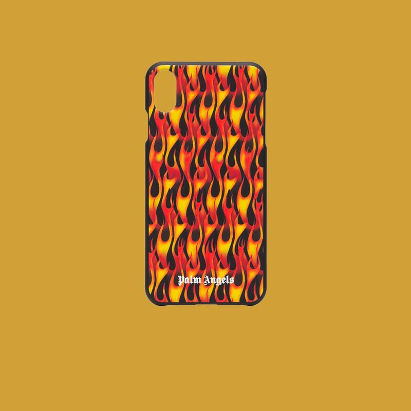 Palm Angels Black Flame Print iPhone XS Case
