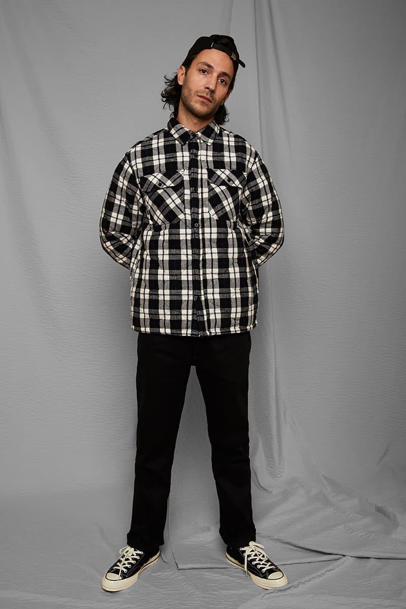 Babylon LA Drop Two Winter 2019 Collection Lee Spielman Garrett Stevenson drop lookbooks graphic t shirts sweaters hoodies bomber jacket quilted plaid los angeles skateboarding