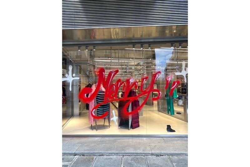 "Balenciaga Taps Kidult to Graffiti Its Paris Flagship high fashion menswear demna gvasalia tongue in cheek merry christmas merry crisis ""More lucidity and humanity. Less hypocrisy and ignorance """