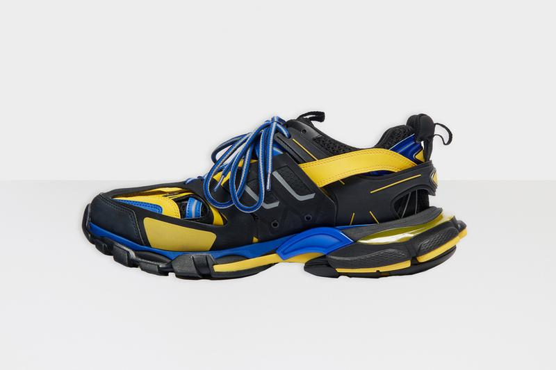 balenciaga track 2 sneakers black yellow blue release date info photos price