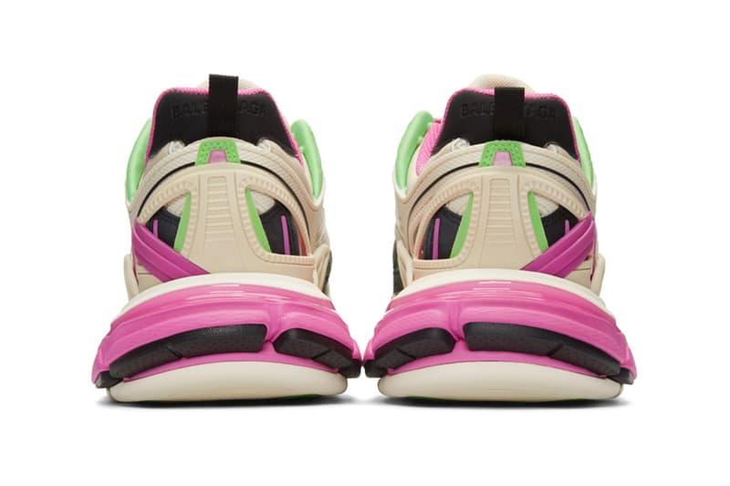 "Balenciaga Track.2 Sneakers ""White/Green/Pink"" Release Info footwear ssense joker colorway 201342M237100 chunky price date"