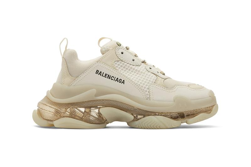 "Balenciaga Triple-S ""Off-White"" Release Info colorway drop date SSENSE buy now demna gvasalia shoes footwear where to buy 201342M237098 leather nubuck rubber"