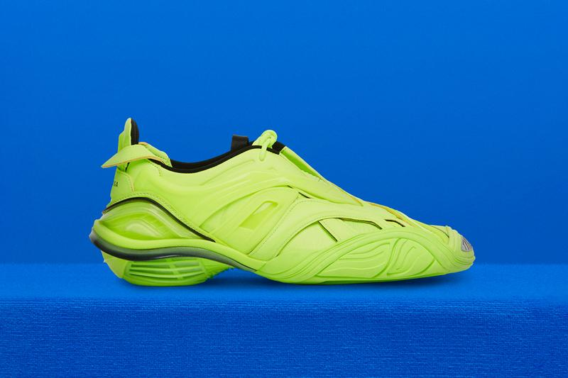 Balenciaga Tyrex Spring/Summer 2020 Collection Sneaker Web Black/Silver Neon Yellow Black Caged Upper first look closer detail