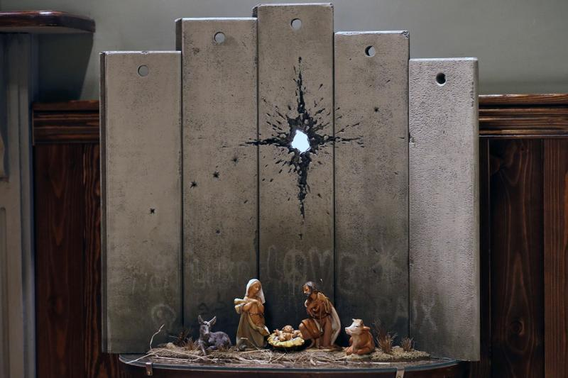 Banksy Scar of Bethlehem Walled Off Hotel Nativity Scene