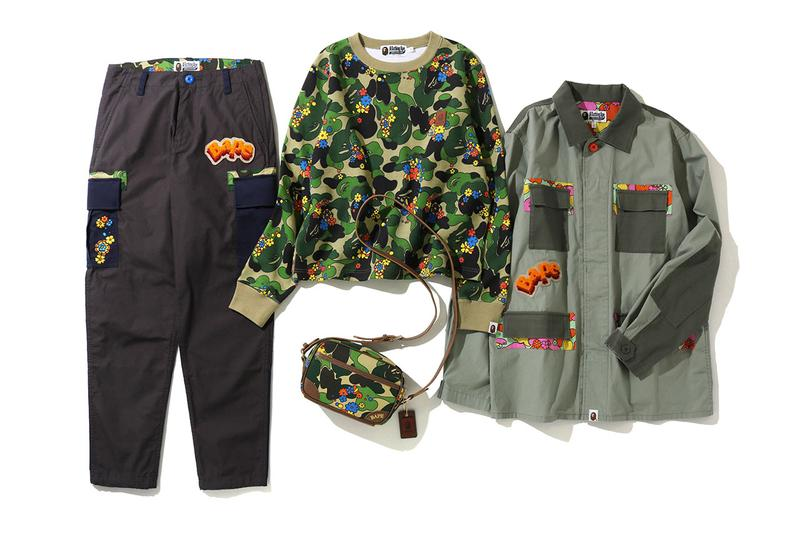 "BAPE ""ABC Camouflage Flower"" Collection SS20 spring summer 2020 ape head pattern print drop release date info bathing ape"