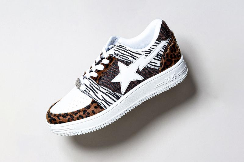 BAPESTA 20th Anniversary Teaser BAPE A Bathing Ape Release Info Date Buy Price colorways sneaker celebration animal zebra leopard print fur faux leather white black 2020