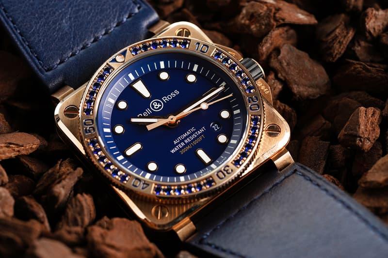 Bell & Ross BR03-92 Bronze & Blue Sapphire Watch  luxury bronze swiss-made dive watches B&R pilot