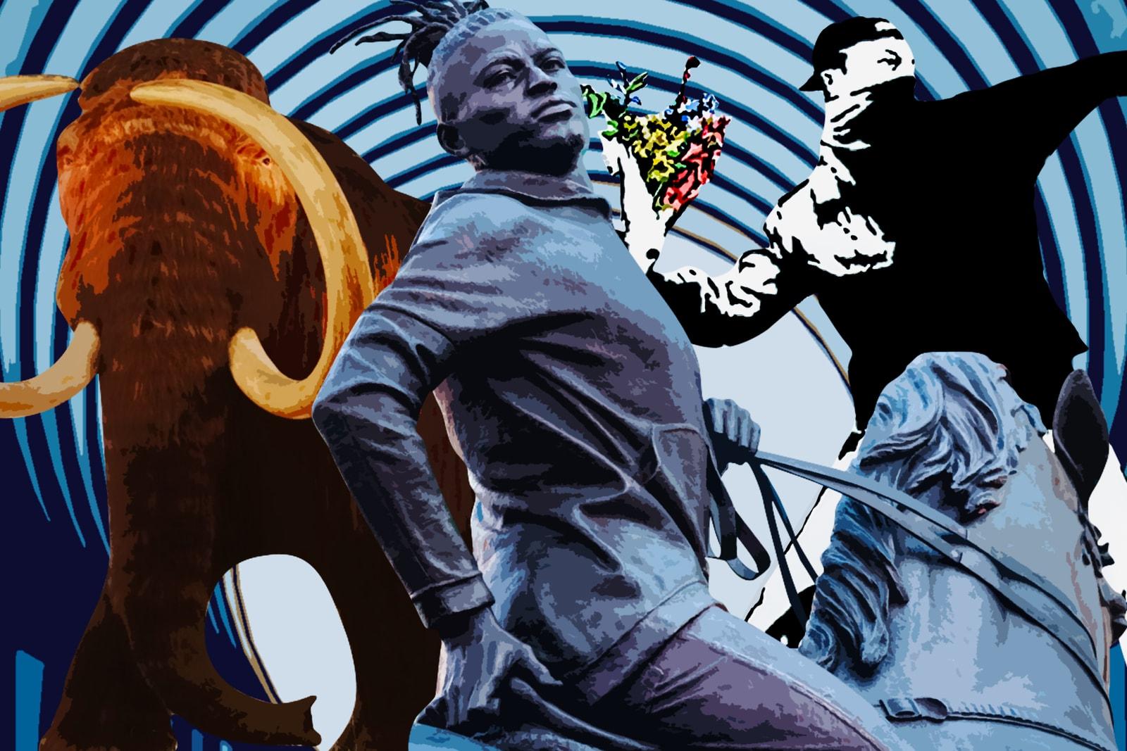 kehinde wiley rumors of war kaws ai weiwei chairman mao volkswagon notre dame cathedral louvre musee museum vitruvian man leonardo davinci klaus littman maurizio cattelan kanye west james turrell jesus is king