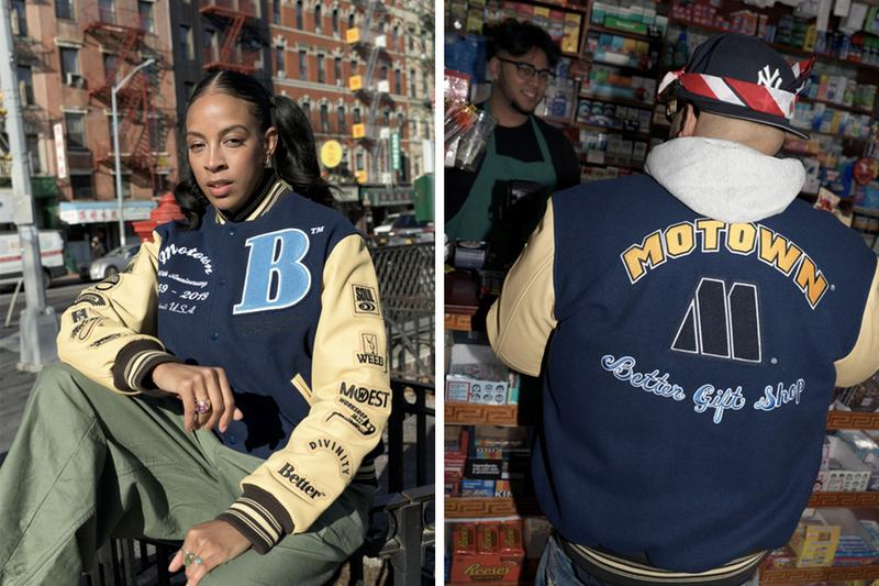 Better Gift Shop Roots Motown Records 60th Anniversary Varsity Jacket collaboration capsule jackson 5 detroit michigan melton wool Diana Ross the Four Tops Stevie Wonder Marvin Gaye american music