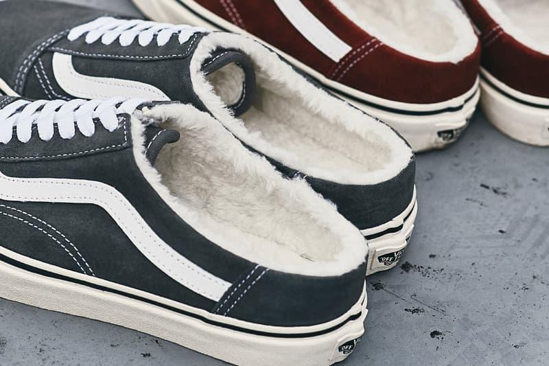 vans vault old skool mule black brown red burgundy white cream release date info photos price slip on fleece womens style shoe colorway