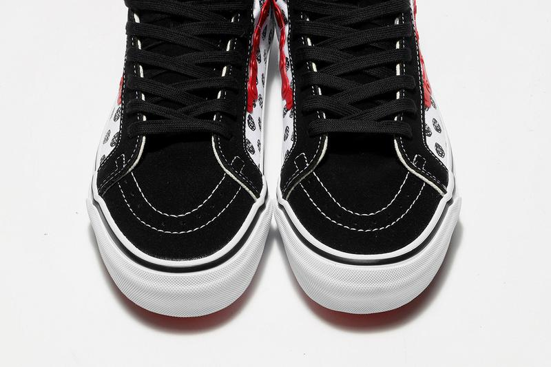 bodega vault by vans sk8 hi slip on release information buy cop purchase dice red black chain suede skate bmx high stakes