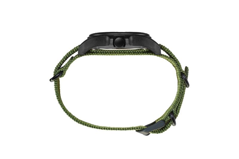 Brain Dead Timex 40mm Fabric Strap Watch ripstop ballistic belt blur acadia los angeles kyle ng designers timepiece collectibles Acrylic when the warm end comes and the clock stops who will live beneath the remains