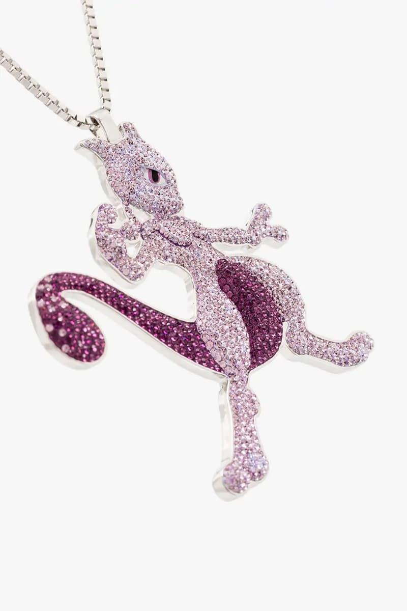 BROWNS x The Dan Life Pokémon Necklace Release crystals jewelry shiny accessories pikachu charizard gengar jigglypuff Swarovski