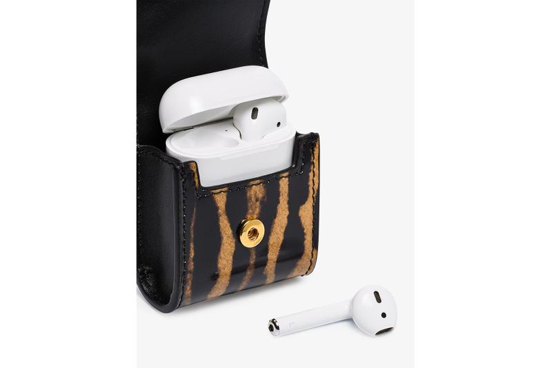 Burberry Brown Leopard Print Apple AirPods Case accessories tech browns uk england